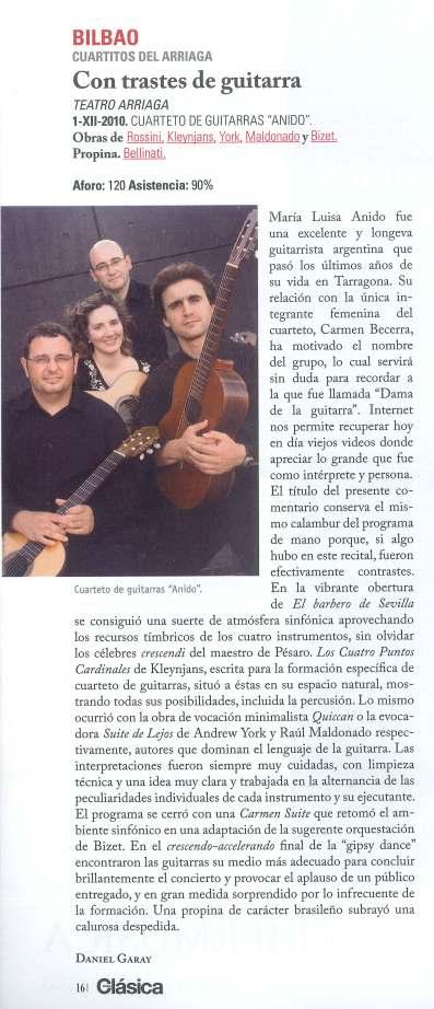 CRITICA REVISTA AUDIO CLASICA FEBRERO 2011